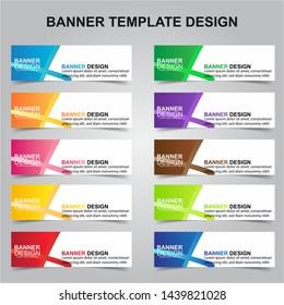 Set of Modern Banners Background. Creative Header Templates - Vector