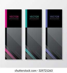 a set of modern banners with lines