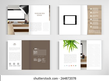 set modern book vector concept. Business graphics brochures design Templates.vector