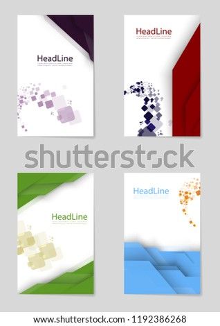 set modern business brochure banner page stock vector royalty free
