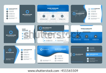 Set Modern Business Card Print Templates Stock Vector (Royalty Free ...