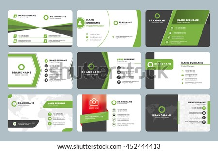 set modern business card templates business stock vector royalty