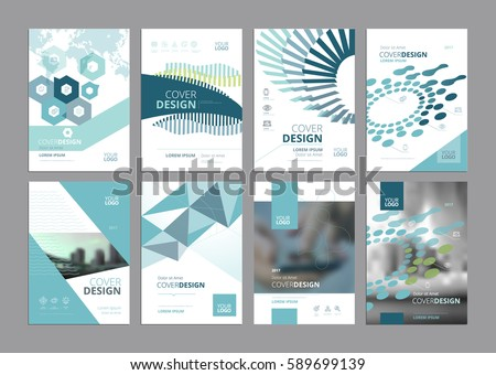 set modern business paper design templates のベクター画像素材