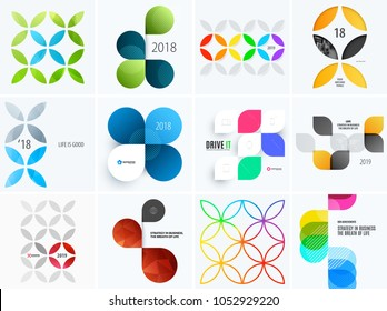 Set of modern design abstract templates. Creative business background