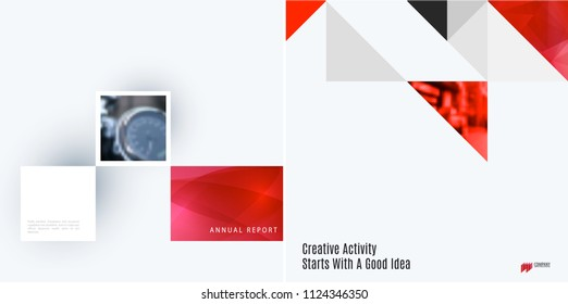 Set of modern design abstract templates. Creative business background with colourful triangles for promotion, banner, brand printing, business, decoration, branding