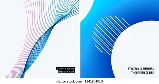 Set of modern design abstract templates. Creative business background with colourful waves lines for promotion, banner, brand printing, party, celebration, night club
