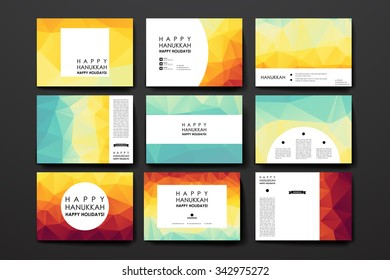 Set of modern design banner template in Hanukkah style. Beautiful design and layout
