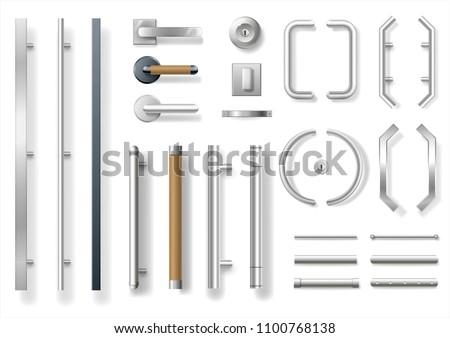 Set of modern door
