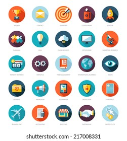 Set of modern flat design business vector infographics icons