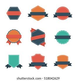 Set of Modern Flat Design Style Badges. Vintage label and Badges.
