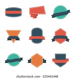 Set of Modern Flat Design Style Badges. Vintage Label and Badges - Vol. 3.