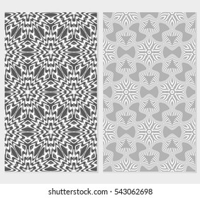 set of modern floral pattern. Seamless vector illustration. for interior design, printing, wallpaper, invitation.