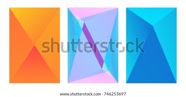 Set of modern geometrical abstract background. Triangular backdrop. Bright wallpaper. geometric, colorful pattern. creative concept. vector illustration collection for booklet, cover, magazine, banner