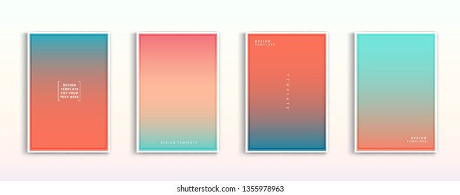 Set modern gradients in abstract sunset and nature beautiful blurred background templates. Square blurred background - sky. vector design