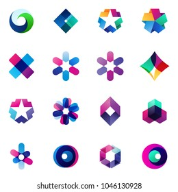 Set of modern icon design logo elements. Best for identity and logotypes
