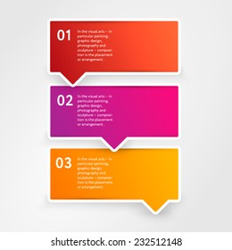 Set of modern info graphic banners with numbers for presentation