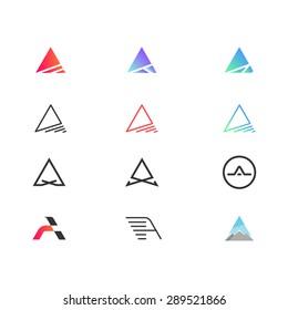 Set of modern logos