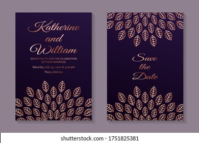 Rose Gold Wedding Invites Images Stock Photos Vectors Shutterstock