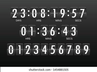 A set of modern numeric scoreboards. Vector illustration