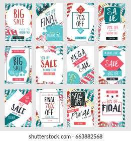 Set of modern sale banners template design with business brochure, cover modern layout, annual report, poster, flyer in A4