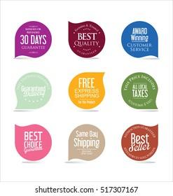 Set of modern sale stickers