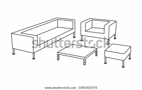 Magnificent Set Modern Sofa Icon Design Living Stock Vector Royalty Cjindustries Chair Design For Home Cjindustriesco
