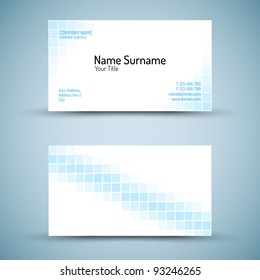Modern simple dark vertical business card stock vector royalty free set of modern vector business card template front and mack side reheart Images