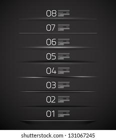 Set of modern web box shadows and dividers