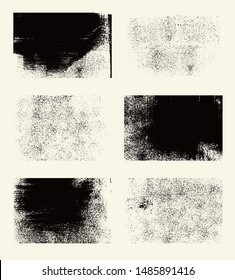 Set of monochrome abstract vector grunge textures.
