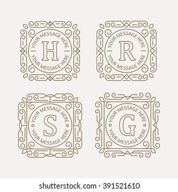 Set of monogram