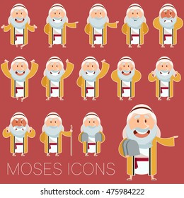 Set of Moses icons 2
