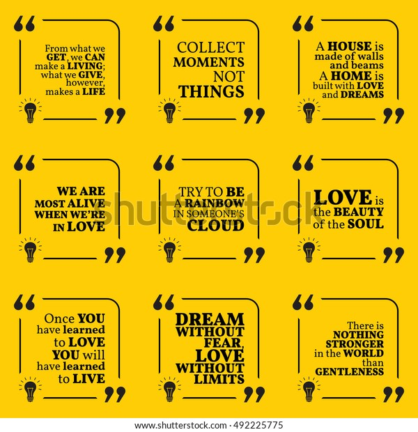 set motivational quotes about home moments stock vector royalty