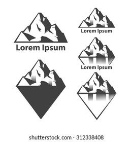 set of mountains, for logo, design emblems, templates