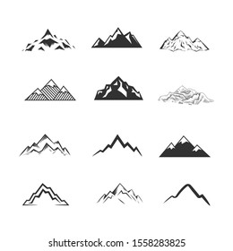 Set of Mountains. Vector illustration.