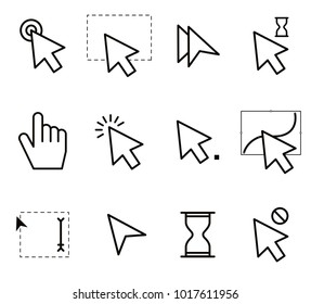 set of mouse icons