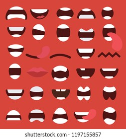 Set of mouths icons