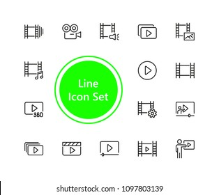 Set of Movie Line Icons