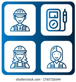 Set of multimeter icons. Such as Electrician, Multimeter , multimeter icons