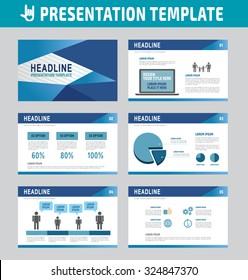 Set of multipurpose business presentation template. Infographic element. business advertising marketing concept. blue flyer layout design. brochure modern style. flat icons vector illustration.