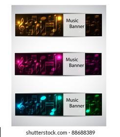 set music banners. vector illustration