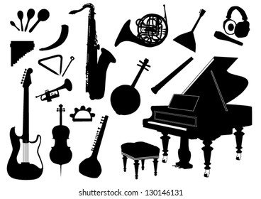Set of music instruments