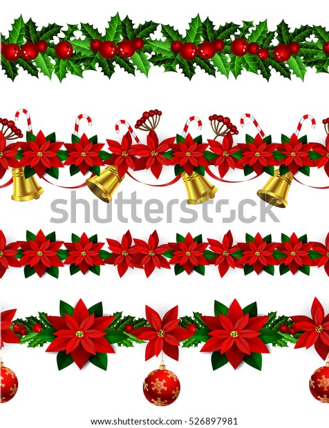Free Christmas Borders.Set N Seamless Christmas Borders Stock Vector Royalty Free