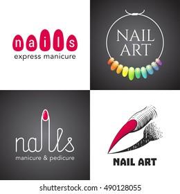 Nail Salon Logo Images Stock Photos Vectors Shutterstock