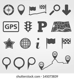 Set of navigation design elements, vector eps10 illustration