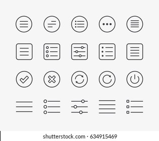 Set of Navigation Menu Line Icons. Editable Stroke. 48 x 48 Pixel Perfect.