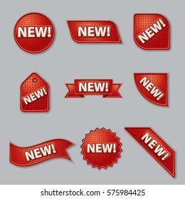 set of new product promotion labels and banners