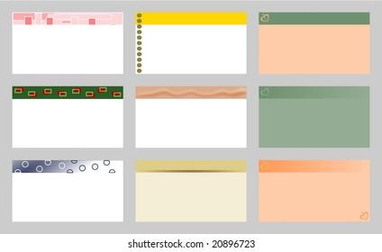Set of nine business cards