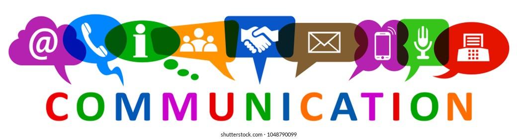 Set of nine icons communication - vector