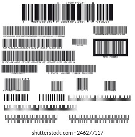 set of nineteen barcode