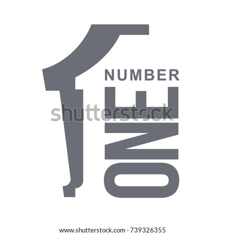 Number One Template | Set Number One Logo Templates Two Stock Vektorgrafik Lizenzfrei